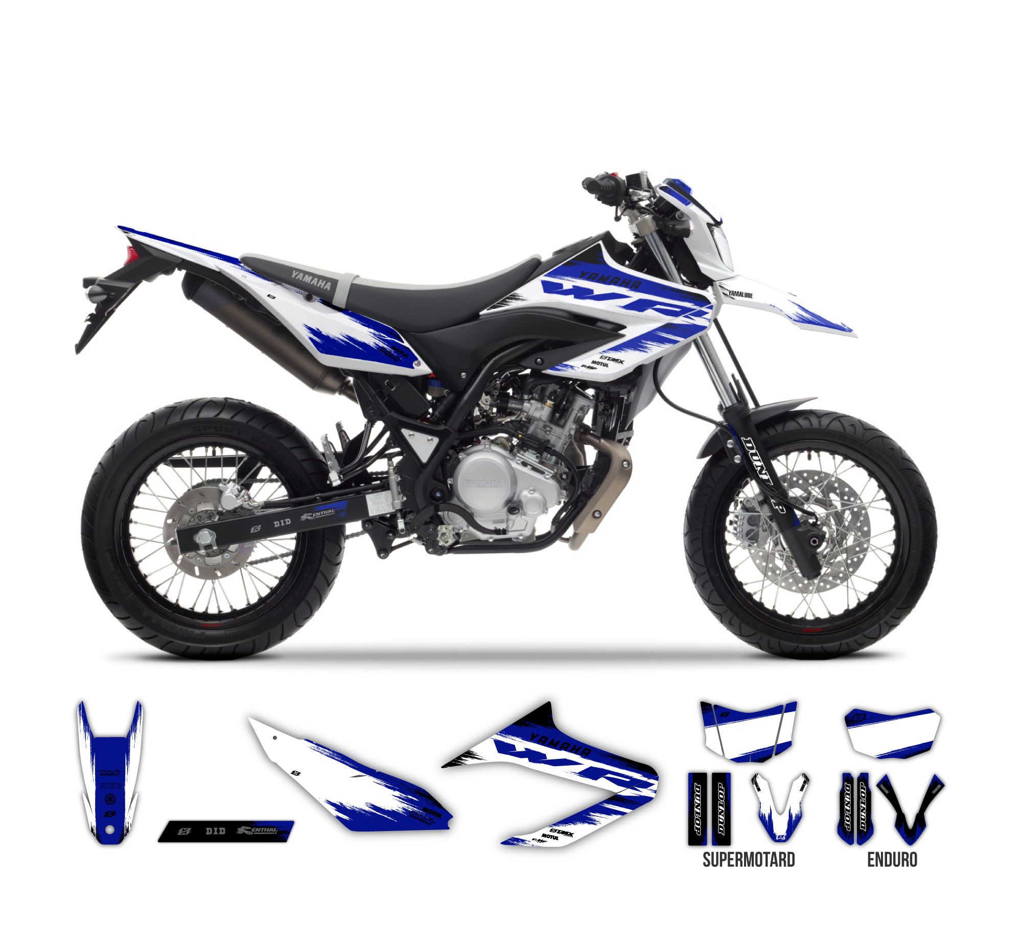 yamaha wr 125 r x burnout graphics series white tmx. Black Bedroom Furniture Sets. Home Design Ideas